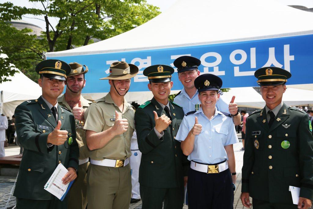 Australian Korean War Veterans have gathered at the National Korean War Memorial in Seoul to commemorate the 60th Anniversary of the Korean War Armistice heralding the cessation of hostilities of the Korean War.