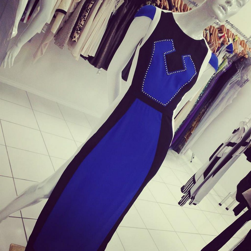 Saltt Clothing has this modern style maxi dress in store ($219.95).