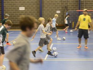 Futsal scoring goals in the Clarence