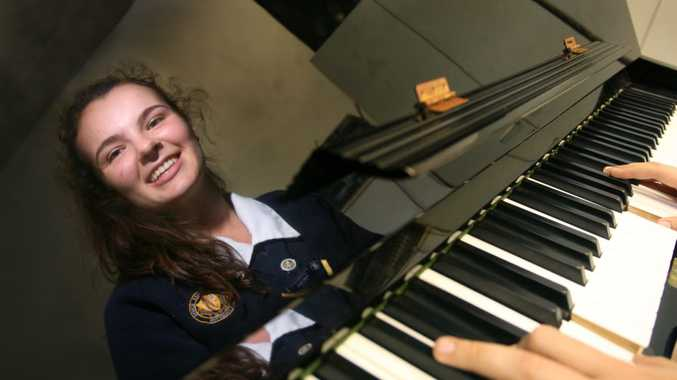 Rockhampton Girls Grammar Student Hollie Dunn is racing up the charts in the Triple J unearthed competition. Photo: Chris Ison / The Morning Bulletin