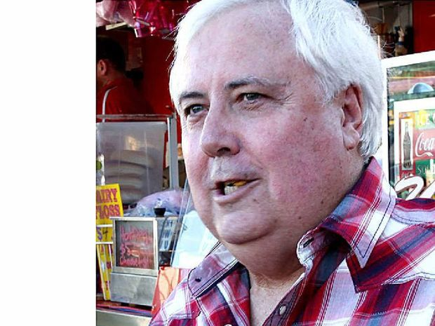 WEIGHTY WARNING: Allan Pease says Clive Palmer should show his self-control.