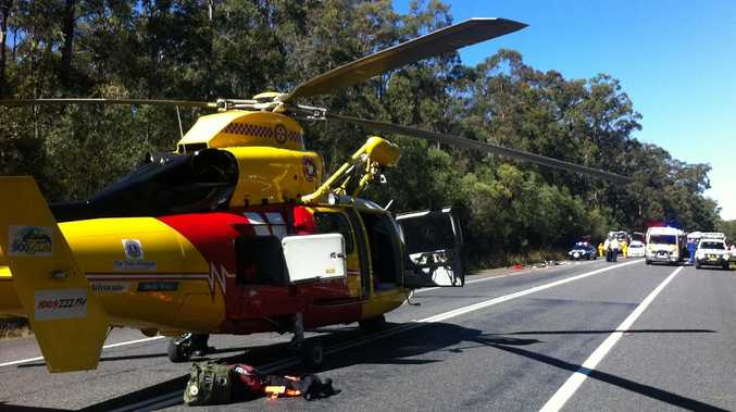 A pregnant woman was among those treated after a three-car crash at Glenugie.