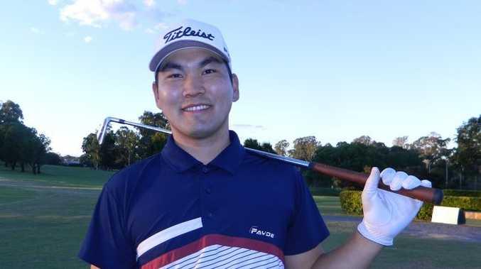 Maryborough Golf Club Pro Am champion Jun Seok Lee.