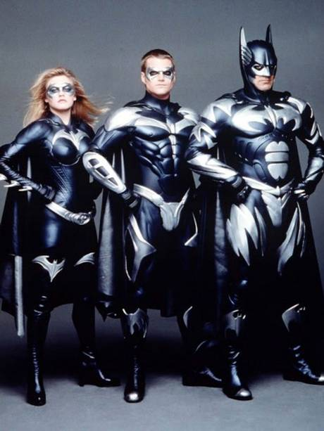 Left to right: Alicia Silverstone, Chris O'Donnell and George Clooney in 'Batman & Robin'
