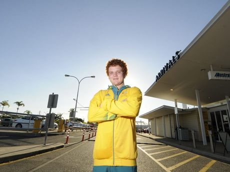 Billy Ward returns to Gladstone from the London 2012 Olympics.