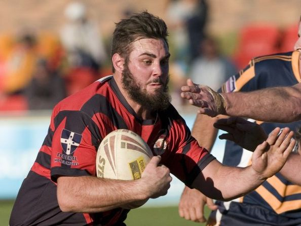 Tough forward Sam Capewell seen here playing for Toowoomba Valleys.