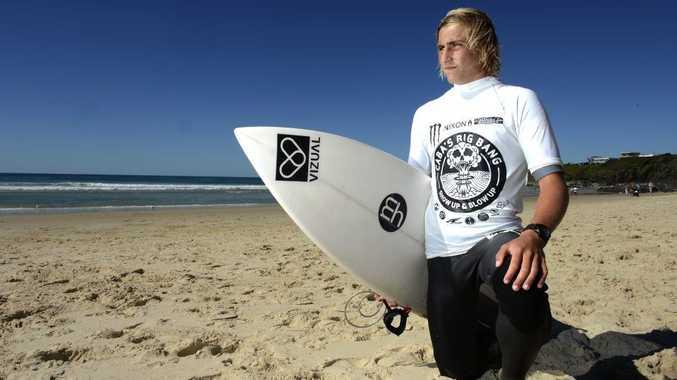 Ryan Zietlow at Caba's big bang-Show up & Blow up surfing comp. Photo: John Gass / Daily News
