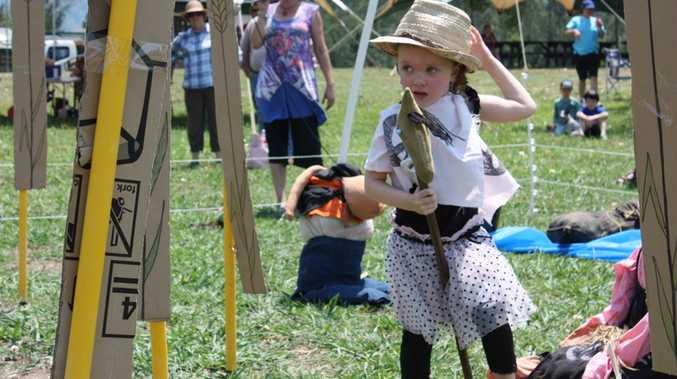 A young girl had a lot of fun at last year's Tyalgum Diggers Sports.