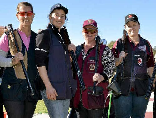 SHOOTING: Kylie Green is one of a growing number of women competing in shoots at the Warwick Clay Target Club.