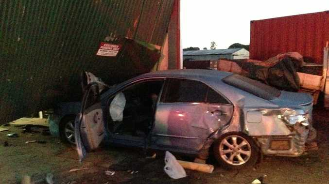 A car went straight into the Murwillumbah Flower Shed overnight.