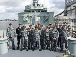 TS Ipswich cadets enjoy visit to HMAS Sydney