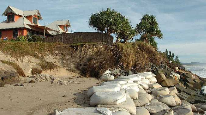 OCEANFRONT ISSUES: Erosion at Belongil Beach.