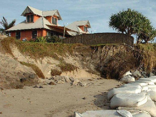 OCEANFRONT ISSUES: Erosion at Belongil Beach.