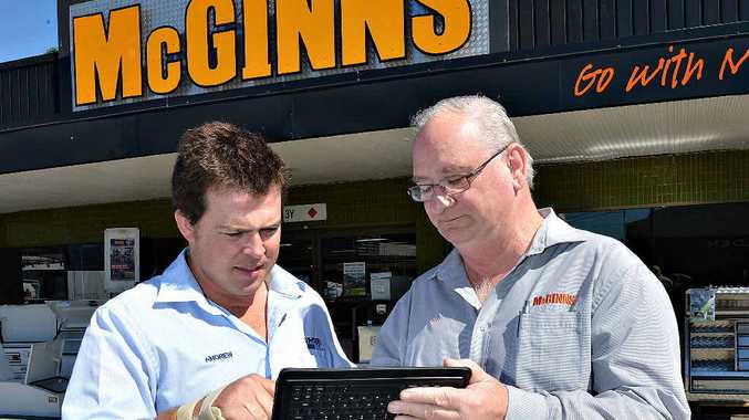 Andrew Musgrave, left, and McGinns assistant manager Ian Nemitz.