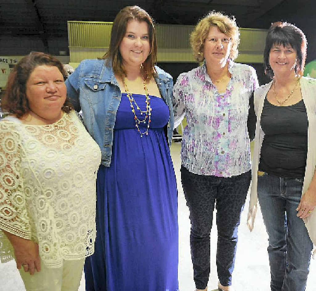Trish Collins, Tanya Simon, Judy Weinert and Elena Long at the Gladstone Turf Club.