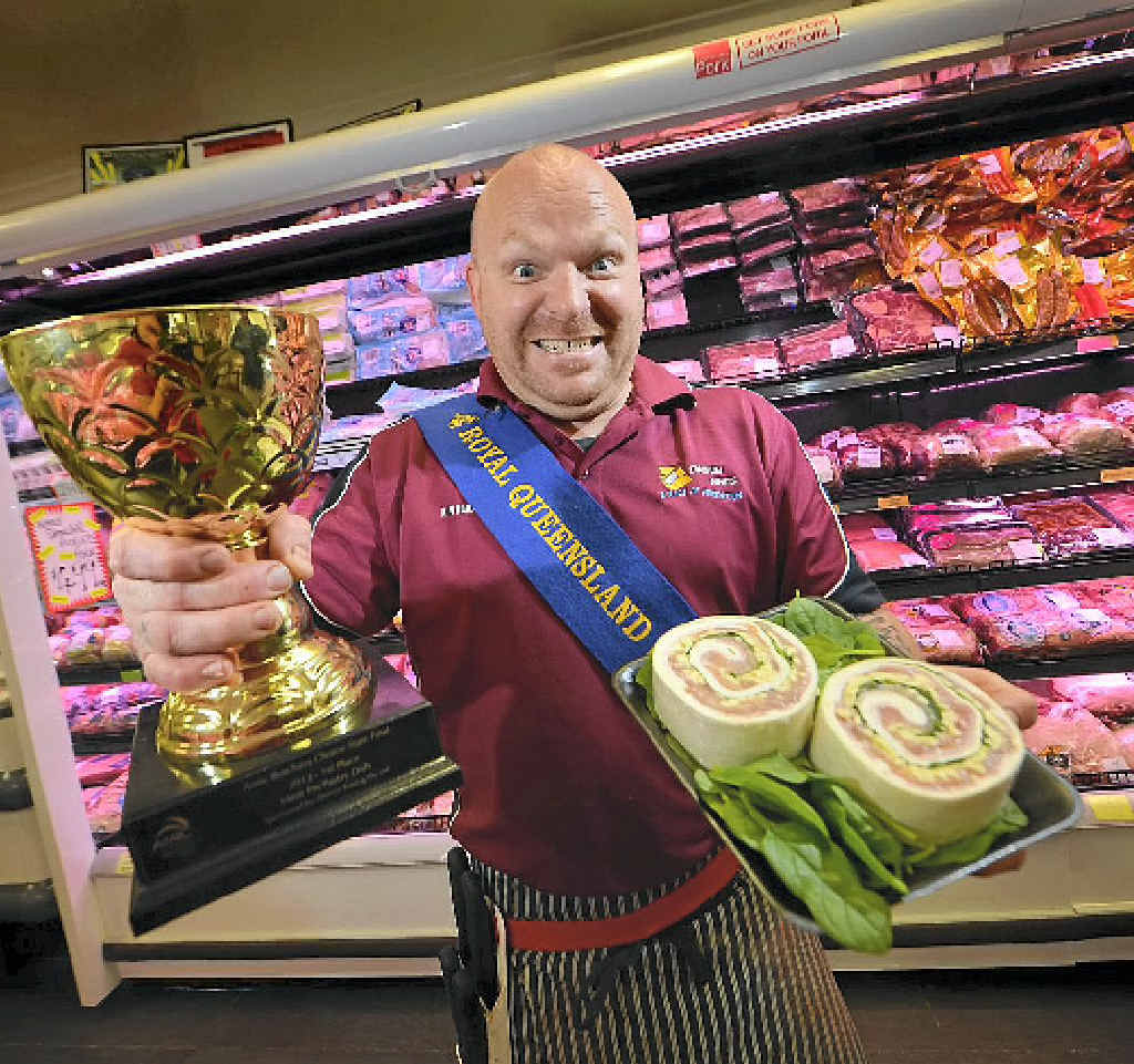 James Osborn from Tannum Meats has now been recognised for his pinwheels winning a national award.