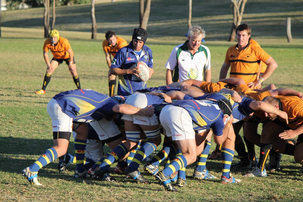 Dalby and Goondiwindi battle out their round one Risdon Cup meeting at Dalby.