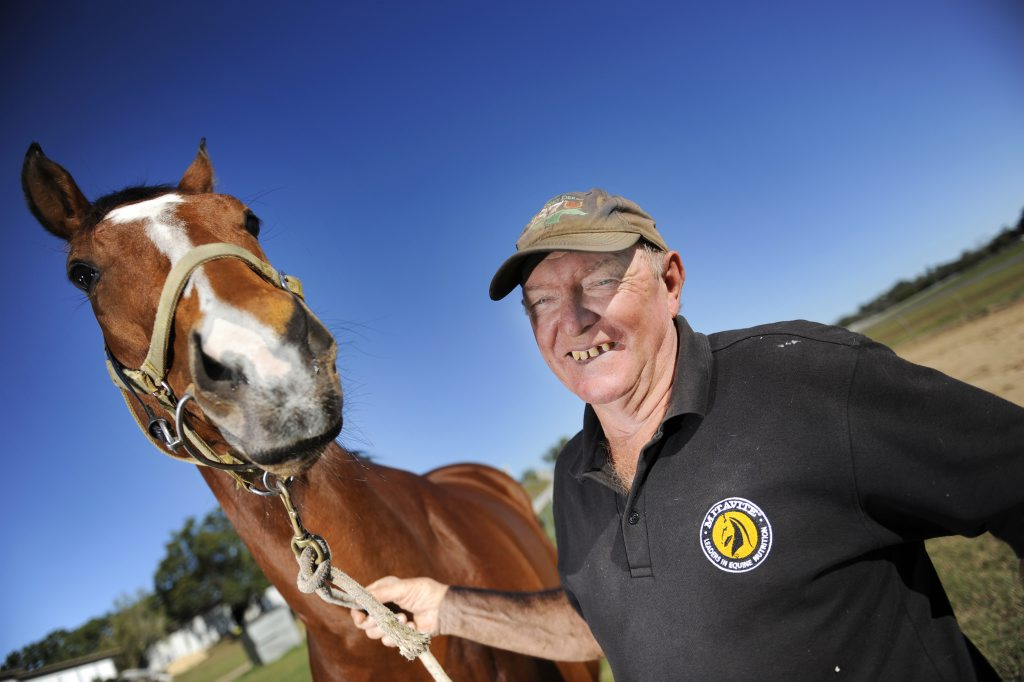Denis Schultz, pictured with horse of the year Blaze to Fortune.