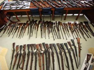 Police search nets 150 firearms after routine traffic stop