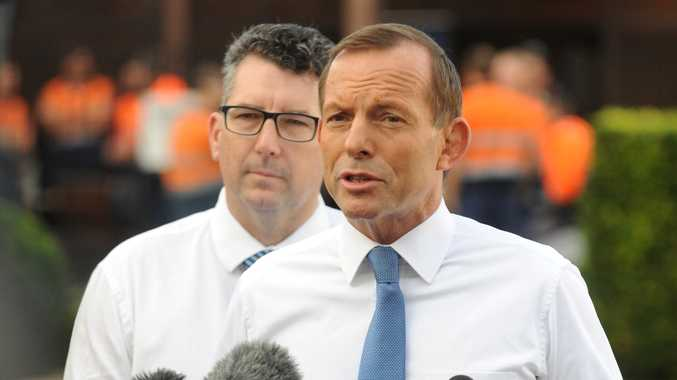 Tony Abbott addresses the media.