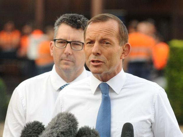 Tony Abbott addresses the media.