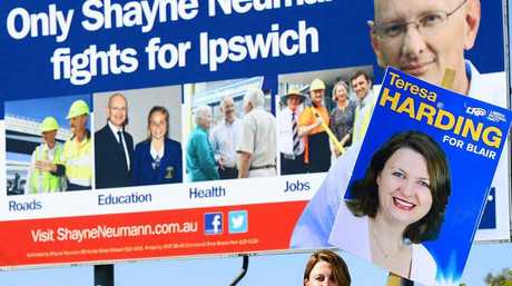 SIGN OF DISAPPROVAL: LNP candidate Teresa Harding is taking issue with Shayne Neumann's billboard claim.