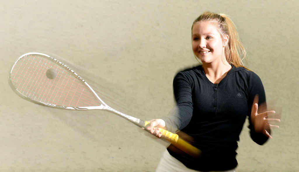 EXCITING PROSPECT: Ripley squash player Kaitlyn Morris is hoping to improve her national ranking representing Queensland.