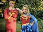 SUPER FRIENDS: Nathan Arnold provides a shoulder to lean on for his best friend Bec Francis.