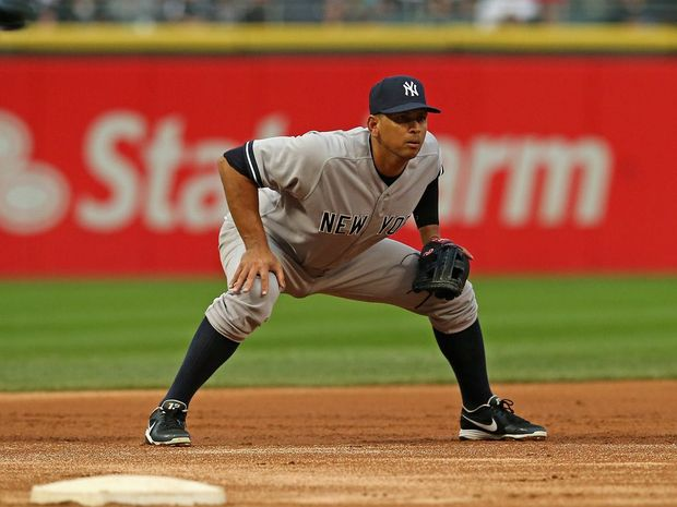 Alex Rodriguez of the New York Yankees at U.S. Cellular Field on August 5, 2013 in Chicago, Illinois.