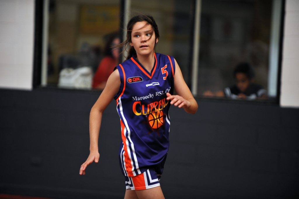 Image for sale: Courtney Murphy, 12, is a rising basketball talent playing for the Maroochy Clippers. Photo: Iain Curry / Sunshine Coast Daily