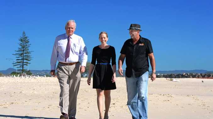 Michael Fraser, Leah Matters and Bob Newman for story on economic success of Cooly Rocks On. Photo: John Gass / Daily News