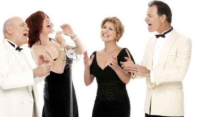 Vocal harmony group The Manhattan Transfer.