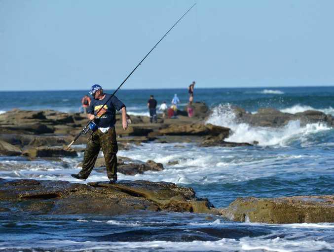 Rock fishing: file photo