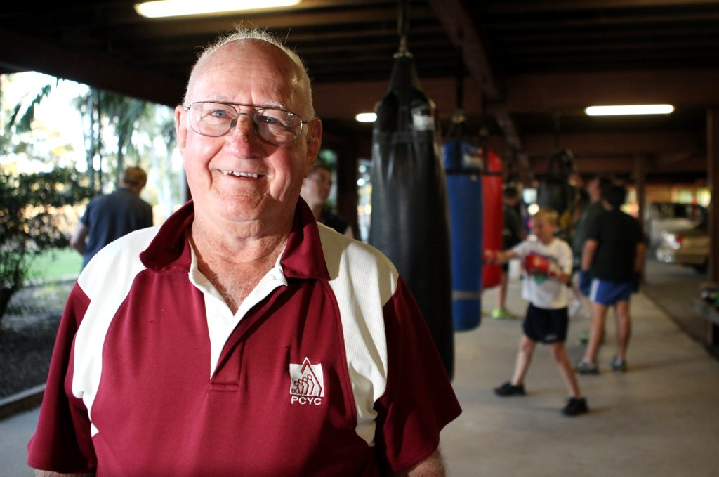 Boxing trainer Des Upton at Rockhampton PCYC. Photo Allan Reinikka / The Morning Bulletin
