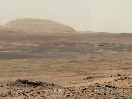 A photo taken recently by the Mars Curiosity Rover