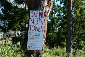 An anti NBN sign was recently spotted in other spots on the North Coast. This one was in Lismore.