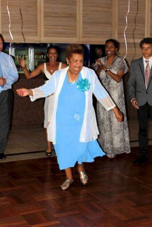 Josie Appo enjoys carving up the dance floor. Photo: Blainey Woodham/Daily News