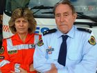 BITTER ATTACK: SES volunteer and road rage victim Sue Sheath with unit deputy controller Harry Henderson.