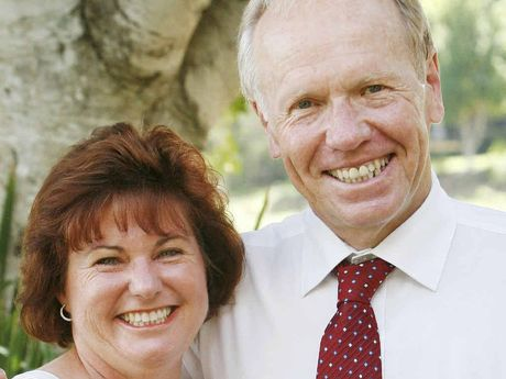 MATES: Jo-Ann Miller MP with former premier Peter Beattie.