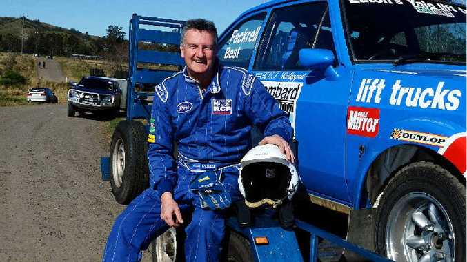 Keith Fackrell from Brisbane will delight fans on the weekend in his Ford Escort RS1800.