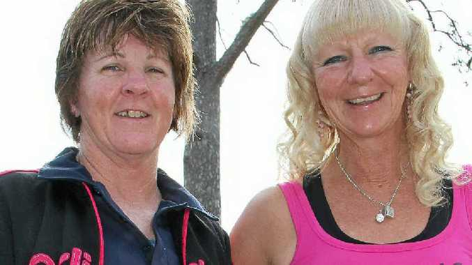 Karen Gilchrist and Sonya Carr are preparing to run from Warwick to the Gold Coast to raise money for cancer.