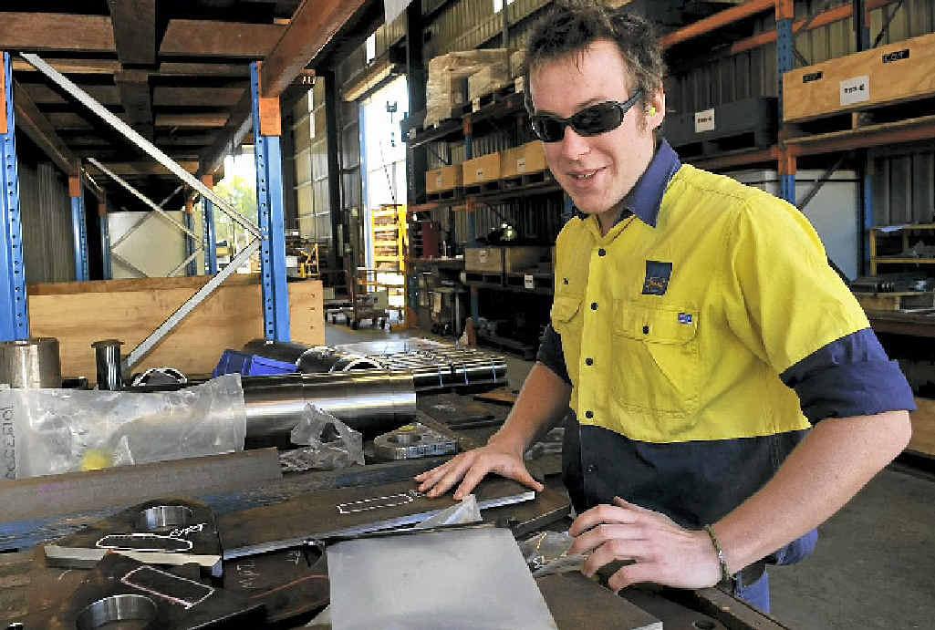 GREAT JOB: Tim Minz from Russell Mineral Equipment enjoys his job.