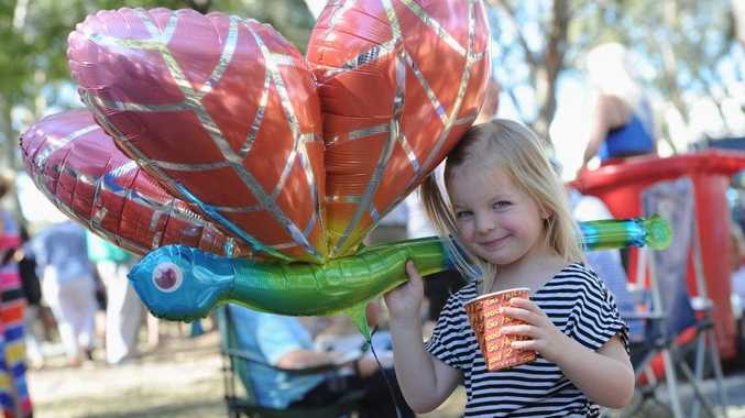Hervey Bay Seafood Festival - 4 yr old Talia Storoy from Hervey Bay with her dragonfly. Photo: Alistair Brightman / Fraser Coast Chronicle
