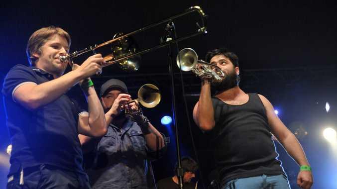 Sunday evening at the Caloundra Music Festival 2012: The Cat Empire.