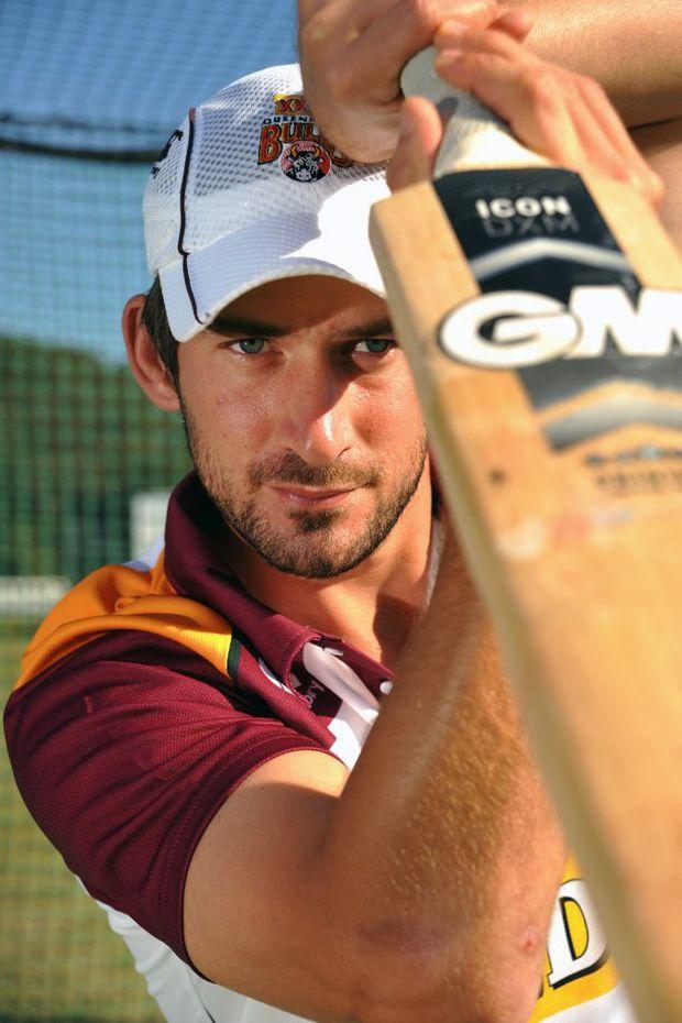 Qld Bulls batsman Joe Burns in the nets at Maroochydore Cricket Club. Photo: Iain Curry / Sunshine Coast Daily