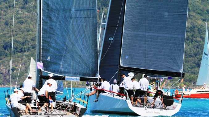 UNDER SAIL: Howard Spencer's Menace and Matt Allen's and Walter Lewin's Ichi Ban sail in perfect conditions at Airlie Beach Race Week.