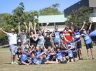 The competitors at the Gladstone Athletics Club Observer Challenge held at CQ TAFE Athletics Field, Gladstone.