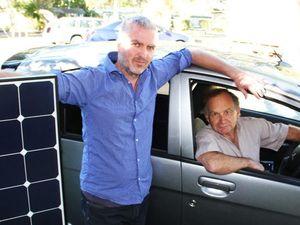 Man on solar mission