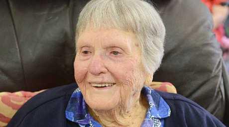 Hazel White enjoys her 100th birthday.