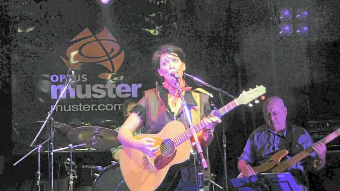 Sara Storer performs at the Gympie Muster.